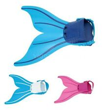 Kids Mermaid Swimming Flipper Tails Fin Monofin Girls Toy Swimmable Costume E3Q5