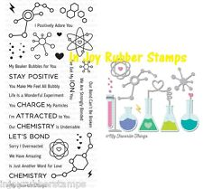 My Favorite Things UNDENIABLE CHEMISTRY Clear Stamps AND Dies Beakers Elements