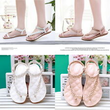 Summer Fashion Women Casual Floral Flat Shoes Beach Sandals Slippers Shoes SL