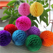 1XColorful Fine Honeycomb Ball Paper Lanterns Wedding Birthday Party Decorations