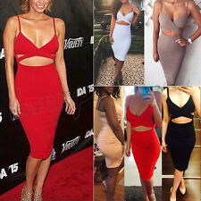 Womens Bodycon Cocktail Bandage Dress Ladies Party Evening Dress Size 6 8 10 14