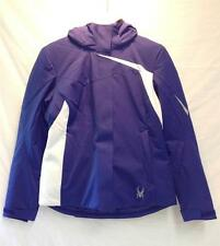 Spyder Womens Amp Insulated Snow Ski Winter Jacket Purple / Blue White NEW