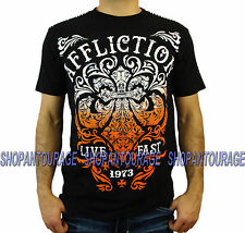 AFFLICTION Truth & Consequence A12854 Men`s New Black T-shirt