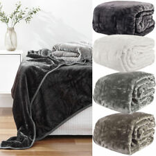 Queen/King Mink Blanket 200 x 240cm - by Paxton & Wiggin - Warm and Cosy Blanket