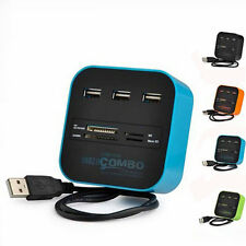 Nice USB 2.0 HUB with Multi-card Reader Combo for SD/MMC/M2/MS MP-All In One New
