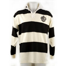 Guinness Rugby Shirt With Brewed In Dublin Crest Badge, Cream And Black Stripes