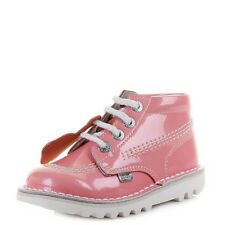 Kickers Girls Kids Infant Kick Hi Patent Light Pink Lace up Boots Shu Size