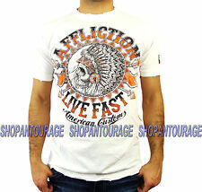 AFFLICTION AC Stampede A13073 Men`s New White T-shirt