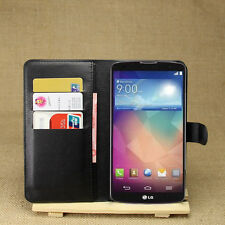 Flip Magnetic Card Wallet PU Leather Case Stand Cover Skin For LG G pro 2 F350