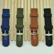 Outdoor Sports Thick Military Army Nylon Canvas Wrist Watch Band Strap Cool GT