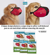 HEAVY DUTY COMFORT DOG MUZZLE Mesh Quick-Fit,Adjustable,Safer*GROOMING*TRAINING