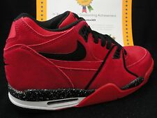 Nike Air Flight 89, Suede Toro, Gym Red / Black, Size 9