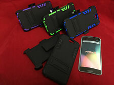 HEAVY DUTY BELT CLIP KICKSTAND HYBRID HOLSTER ARMOR CASE FOR HTC ONE A9
