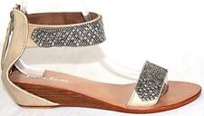 Women shoes sandal summer leather fashion silver studs Zilo Aus size 2 to 10.5