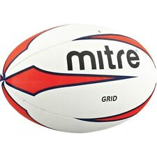 Mitre Grid Rugby Ball Outdoor Playing Match Training & Practise Ball Sizes 4-5