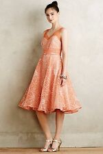 NEW Anthropologie Embroidered Calendula Dress by Moulinette Soeurs Size 0, 2