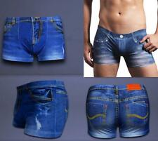 MENS NOVELTY DENIM DESIGNER CLASSIC COTTON BOXER SHORTS TRUNKS UNDERWEAR BRIEFS