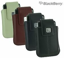 Genuine Blackberry Storm 9500 Tote Leather Pouch HDW-18970 Black Red Sandstone