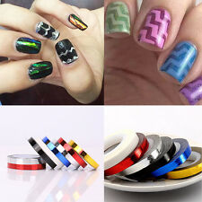 1pc Nail Rolls Waves Striping Tape Line DIY Nail Art Tips Deco Sticker Decals