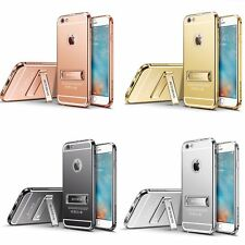 New Luxury Aluminum Metal Kickstand Mirror Back Case for iPhone 6 6s Plus