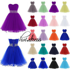 Stock New Tulle Formal Prom Party Cocktail Gown Short Evening Bridesmaid Dresses
