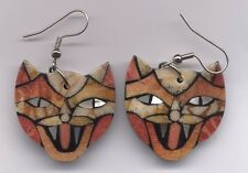 Hand Made Shell CAT Earrings-3 Styles! Very Unique