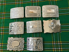 New Scottish  Kilt Belt Buckle Chrome Finish /Highland Belt Buckle Various Style
