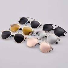 Eyewear Dual Horizontal Beam Women Retro Sunglasses Full Frame 6 Colors TXGT