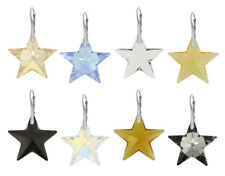 Sterling Silver Earrings Made with Genuine SWAROVSKI 6714 Star 28mm Crystals
