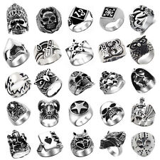 1PC Stainless Steel Punk Ring Various Styles Gothric Biker Rock Ring Fashion
