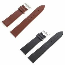 Durable Genuine Leather Watch Band Stainless Steel Bracelet Strap Band 12-22mm