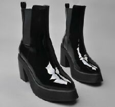 2015 Hot Winter Lady's  Womens High Block Heel Platform Punk Ankle Boots Shoes