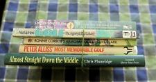 golf books. 5 golf books Hardback / paperback