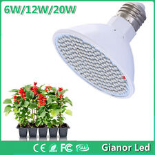E27 6/12/20W Wat LED Grow Light Bulb Lamp for Plant Flower Hydro Growth Blooming