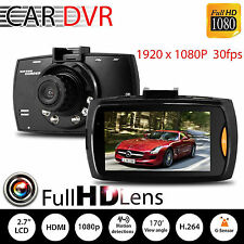 "1080P 2.7"" LCD Car DVR Dash Camera Cam G-sensor IR Night Vision Pro LO"
