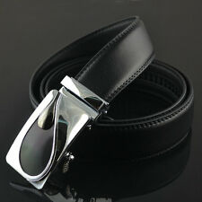 Stylish Premium Leather Mens Casual Waistband  Automatic Buckle Waist Strap Belt