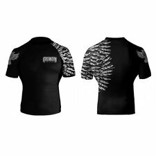Raven Fightwear Aerial Assault Rash Guard - Short Sleeve - White