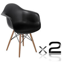 i.Life Dining Chairs NEW 2 x Replica Eames Cafe Chairs Beech