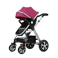 HA 3in1 Luxury Jogger Baby Stroller Travel System,Free Purple Replaceable Canopy