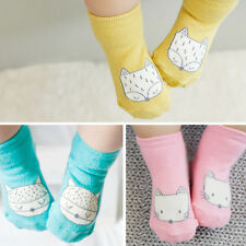 Lovely Baby Newborn Toddler Kids Girl Boy Cartoon Fox Cotton Anti-slip Socks