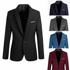 New Mens Stylish Casual Slim Fit Formal One Button Suit Blazer Coat Jacket Tops