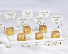 Gold Glitter Mini Cube Place Card Photo Holder Bridal Wedding Favor 24-144 qty