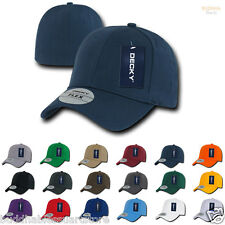 1 Dozen DECKY BLANK FITALL FLEX FITTED BASEBALL HATS CAPS 6 PANELS Wholesale Lot