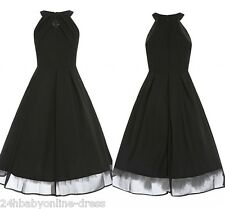 Women Elegant 50s Vintage Sleeveless Evening Prom Party Rockabilly Swing Dress