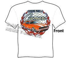 Chevy Camaro T Shirts 67 68 Muscle Car Tee 1967 1968 Chevrolet Sz M L XL 2XL 3XL