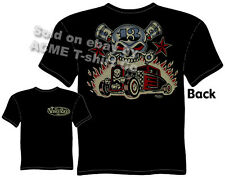 Hot Rod Clothes Ford T Shirt Automotive Shirts Rat Rod Skull & Pistons 1930 1931