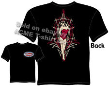 Pin Up T Shirts Girl Pinstripe Shirt Zombie Hot Rod Tattoo Tee Sz M L XL 2XL 3XL