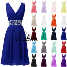 Stock Formal Short Bridesmaid Dress Evening Prom Party Cocktail Homecoming Gowns