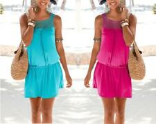 Womens Mini Playsuit Ladies Jumpsuit Summer Beach Holiday Dress Size 6 - 14