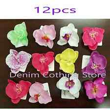 "12pcs Hawaii Orchid Bridal Wedding Party Prom Beach Flower Hair Clip Pin 4"" Lots"
